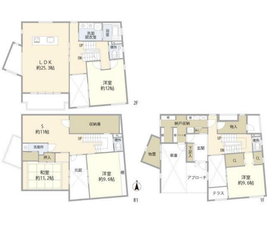 世田谷区駒沢1丁目住宅・1号室の間取り