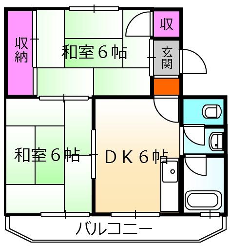 NHマンション・302号室の間取り