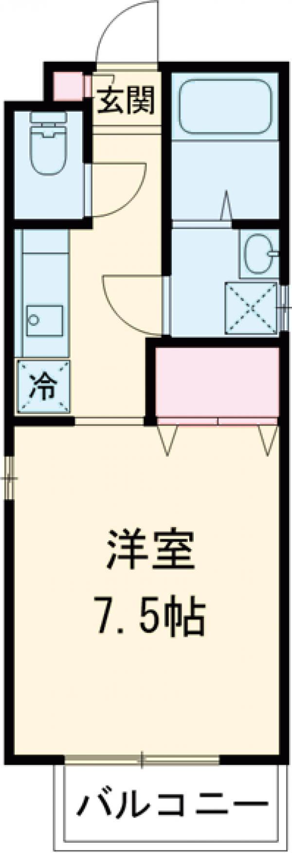 MOISTURE GARDEN子安町VOL.Ⅱ・103号室の間取り