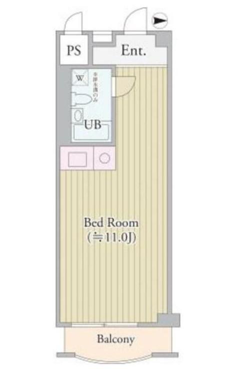 パークグレース新宿・306号室の間取り