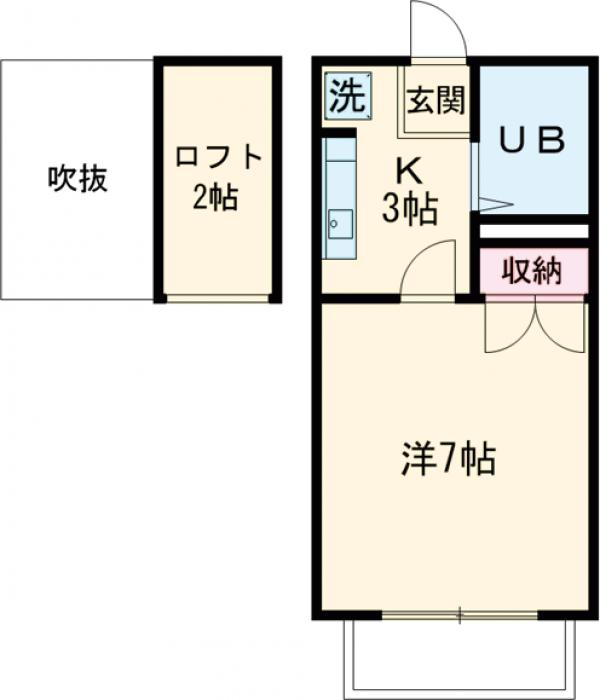 メゾン草薙Ⅲ 106号室の間取り