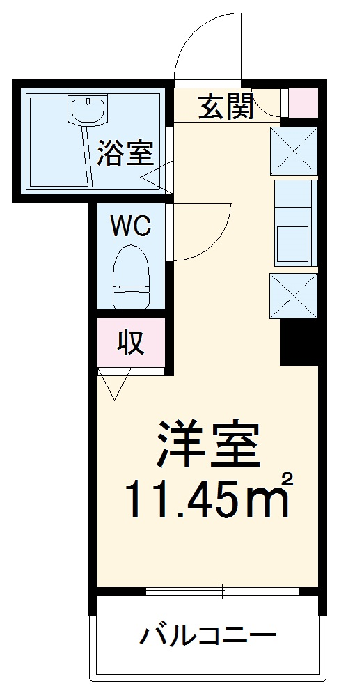 MELDIA津田沼・303号室の間取り
