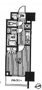 クロスレジデンス蒲田Ⅱ・302号室の間取り