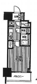クロスレジデンス蒲田Ⅱ・1203号室の間取り