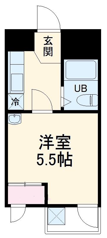ダイコウレストハウス芥川・201号室の間取り
