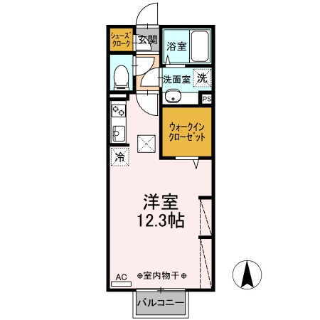 D-room江木町・206号室の間取り