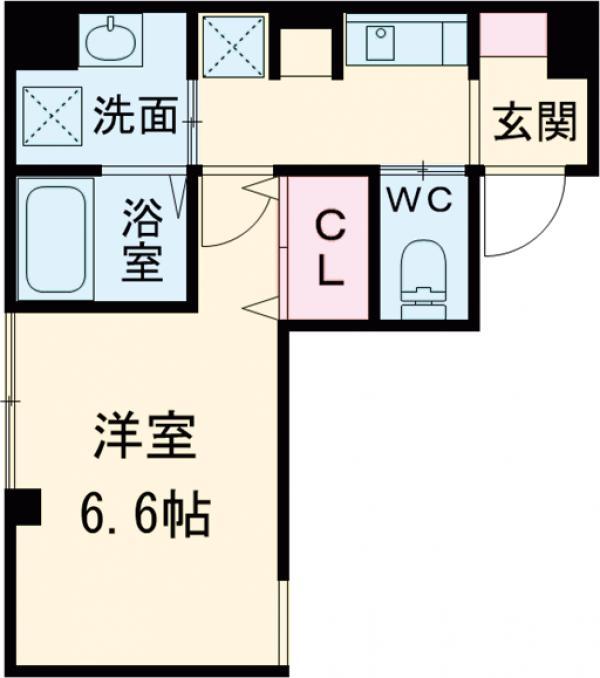 Jc street Kagura・203号室の間取り