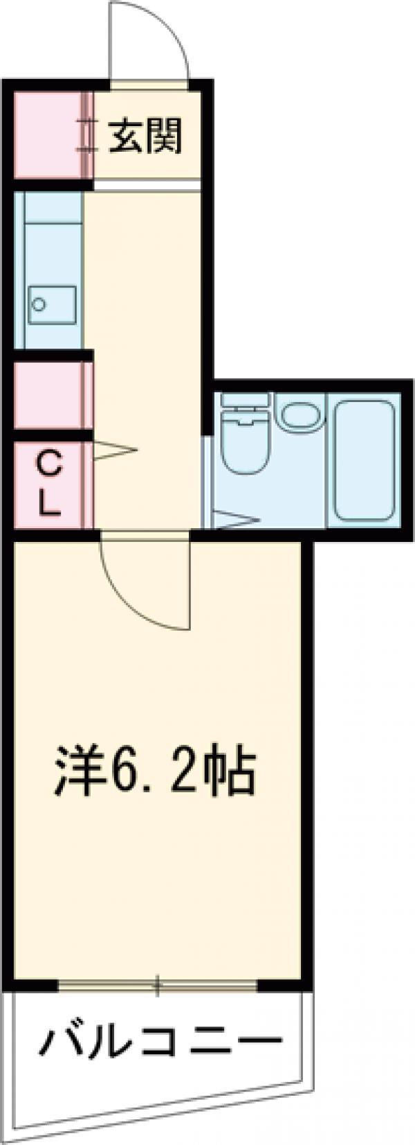 パークサイドコート桜川・403号室の間取り