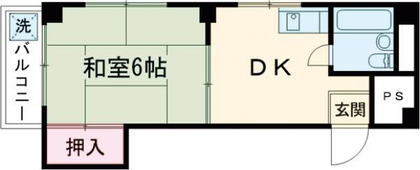 高輪ダイヤモンドマンション・401号室の間取り