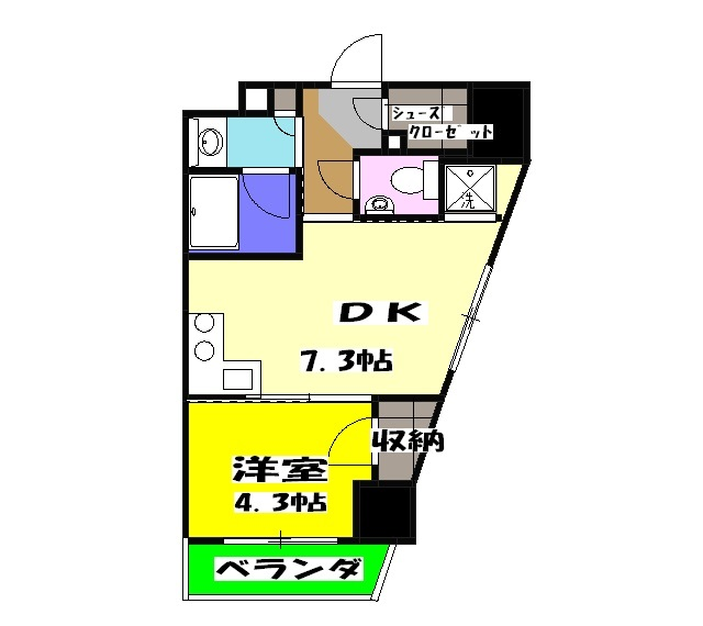 エクセレントシティ荻窪・704号室の間取り