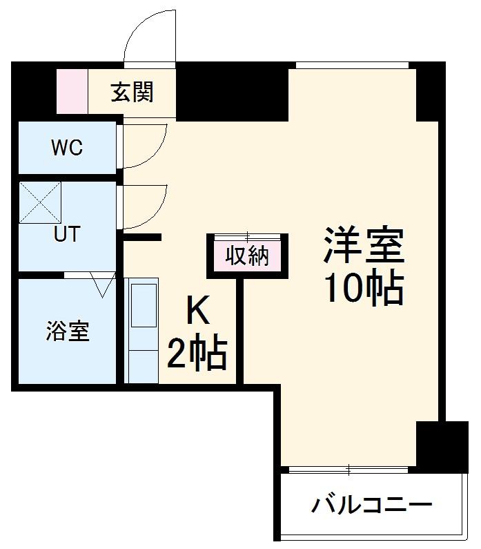 ソシオ豊田小坂本町 113号室の間取り