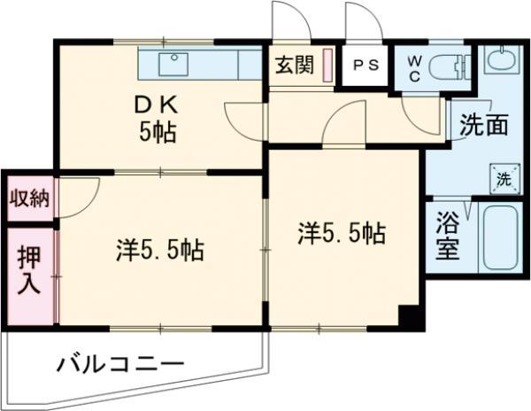 今井本澤ビル・301号室の間取り