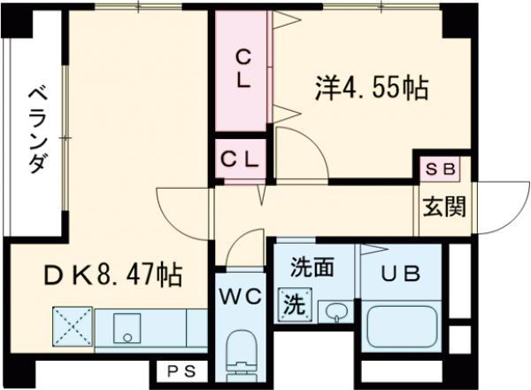 松室ビル・305号室の間取り