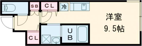 LEGALAND駒沢大学・302号室の間取り