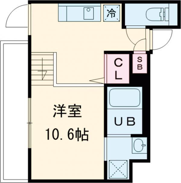 LEGALAND駒沢大学・301号室の間取り