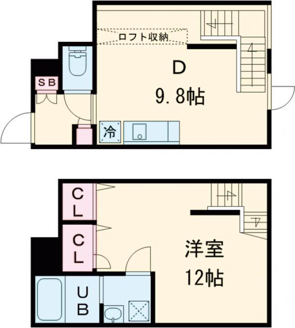 LEGALAND駒沢大学・102号室の間取り