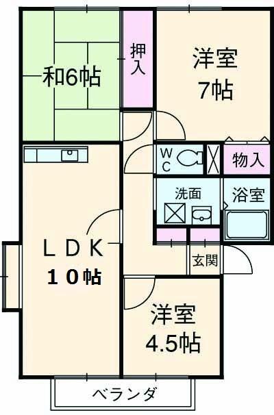 ステージ湘南第2 C棟・101号室の間取り