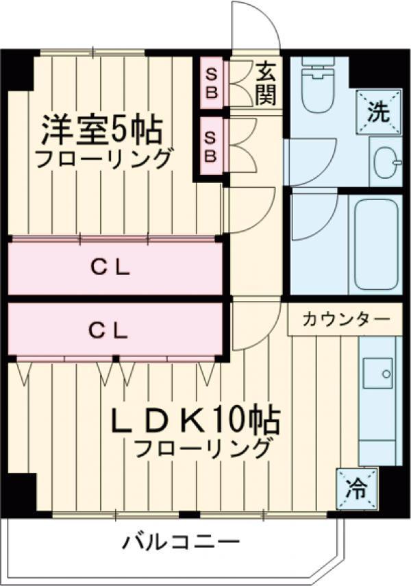 マイキャッスル五反田・303号室の間取り