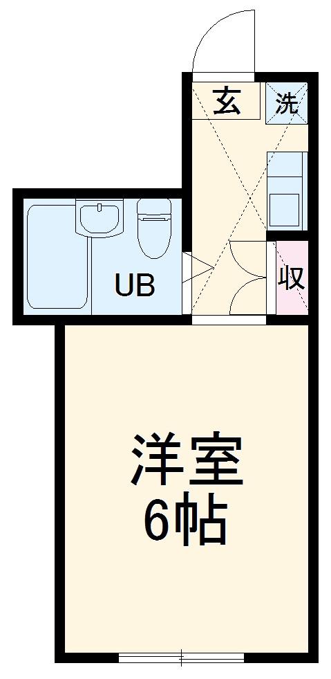パレス蒔田Ⅴ 205号室の間取り