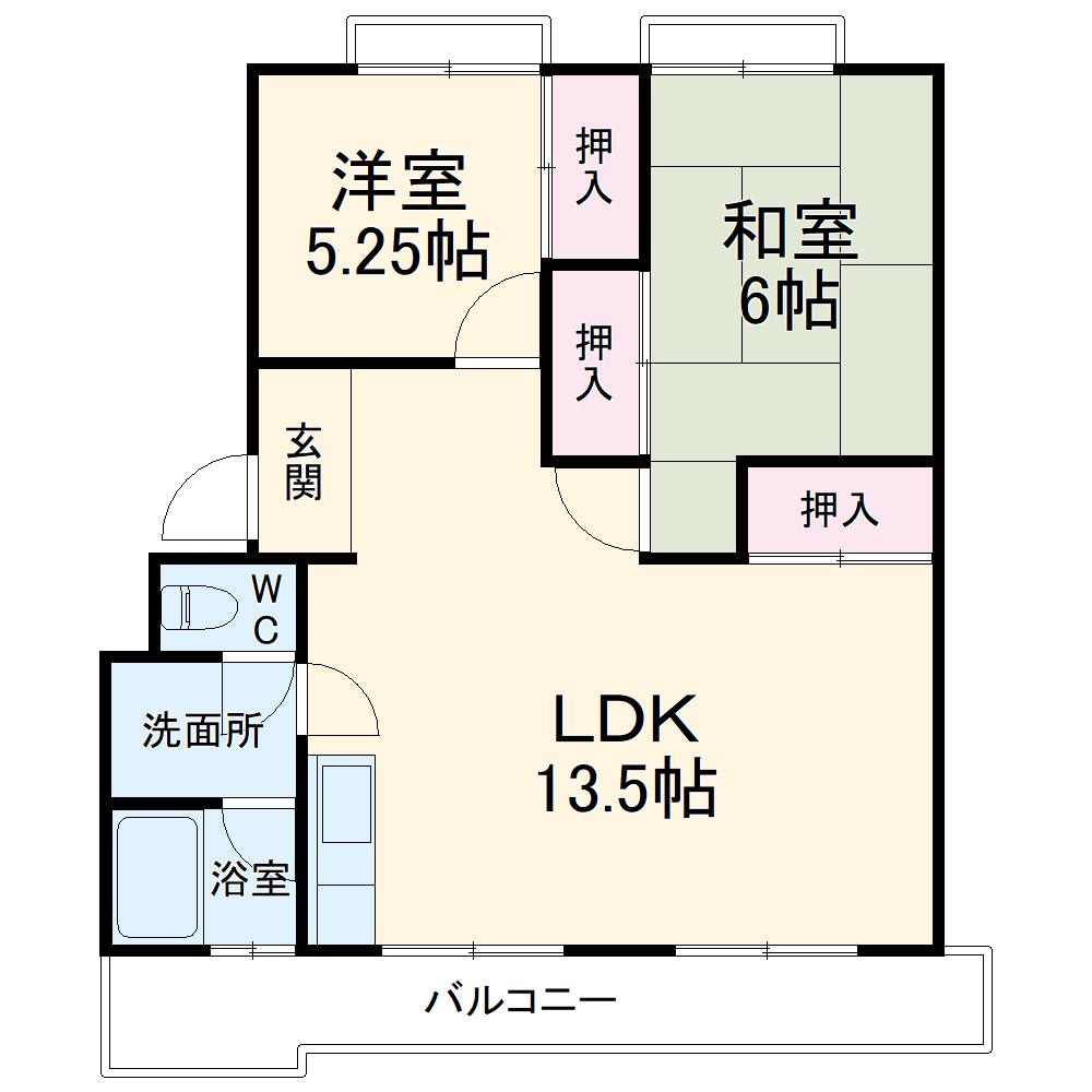藤田ハイツ 303号室の間取り