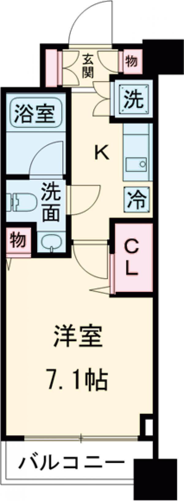 パレステュディオ神楽坂CITY TOWER・302号室の間取り