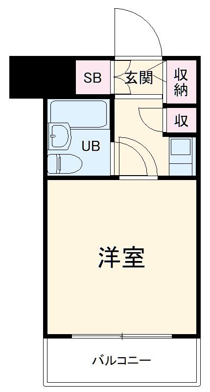クリオ阪東橋壱番館・804号室の間取り