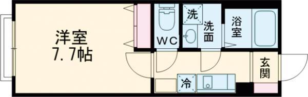 コンフォート―S・103号室の間取り