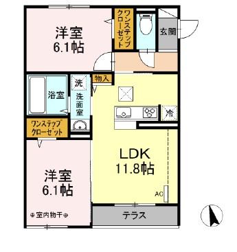 仮)D-room下依知 103号室の間取り