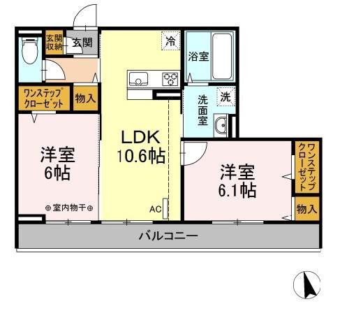 仮)D-room下依知 302号室の間取り