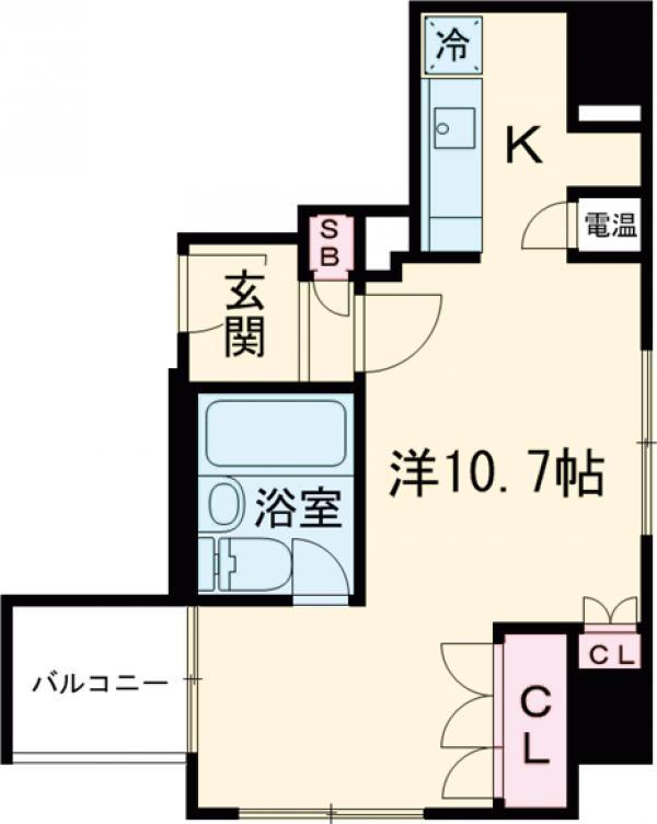 HF三田レジデンス・904号室の間取り