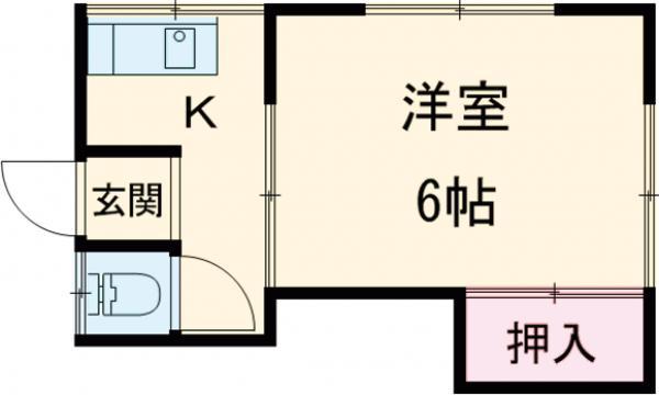 竹和荘 203号室の間取り
