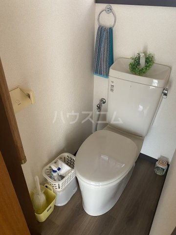竹和荘 203号室のトイレ