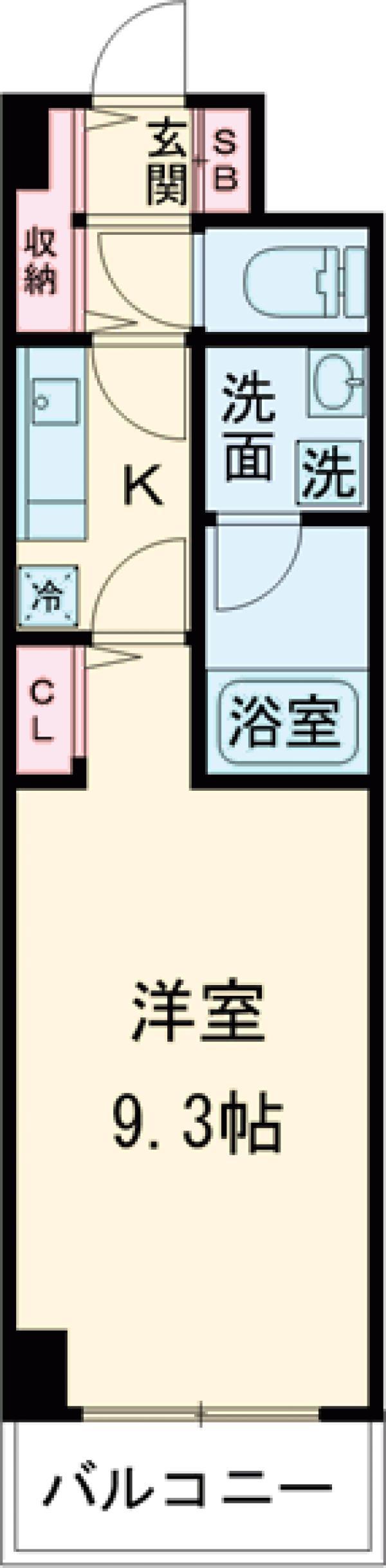 ハイヤーム桜台・202号室の間取り