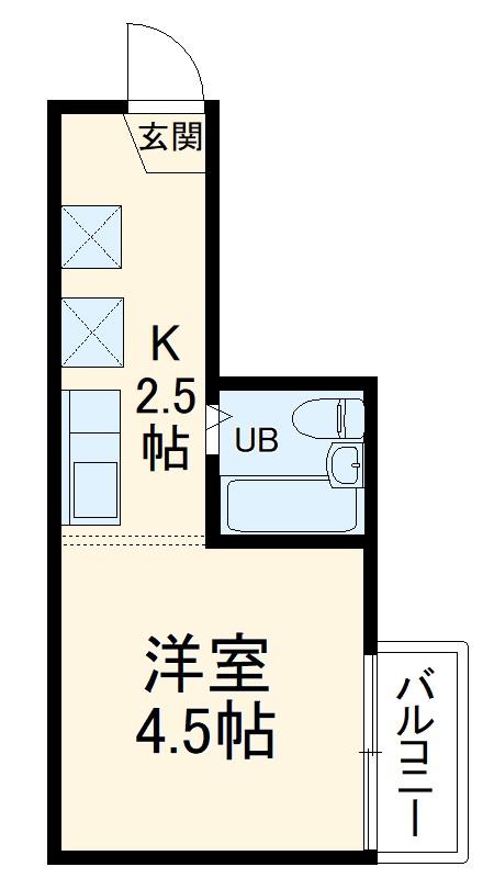 テルピアu・2B号室の間取り