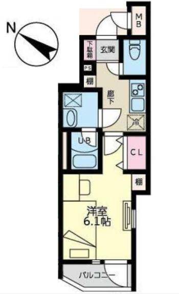 YKマンション・201号室の間取り