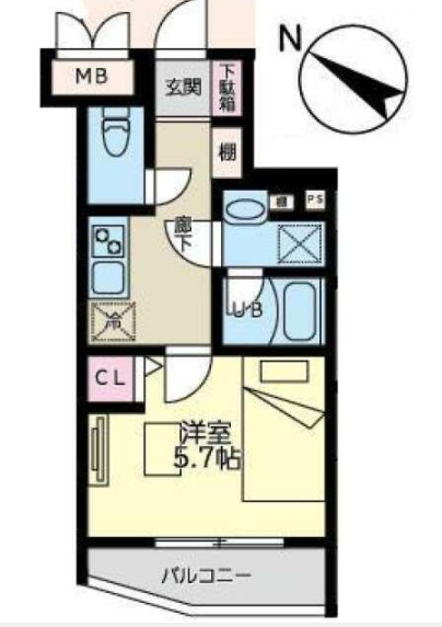 YKマンション・202号室の間取り