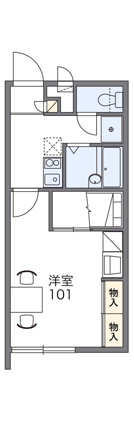 レオパレスサニーハウスうるま 110号室の間取り