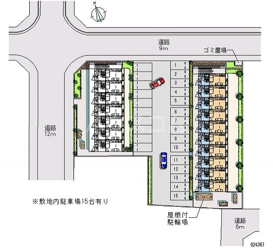 レオパレスサニーハウスうるま 110号室の駐車場