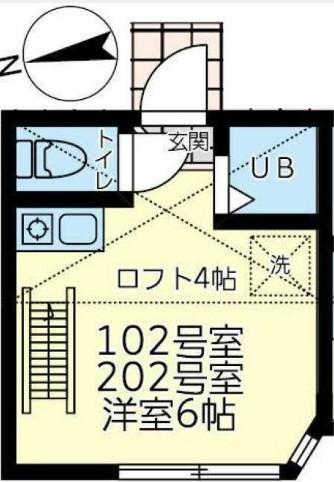 ユナイト田浦キャンドラー 102号室の間取り