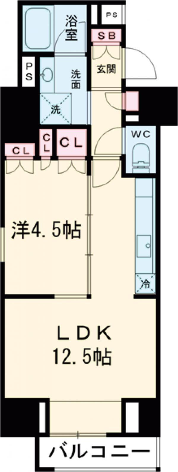 プラウドフラット西早稲田・201号室の間取り
