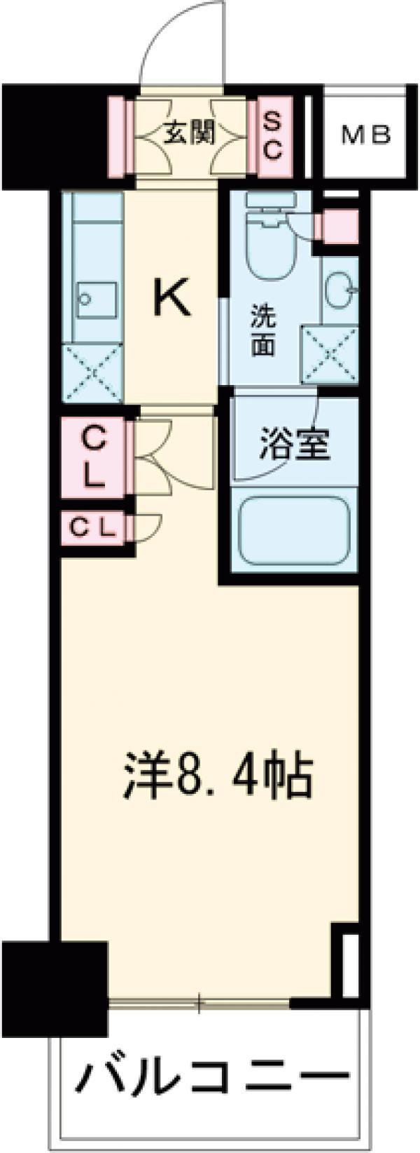 プラウドフラット西早稲田・202号室の間取り