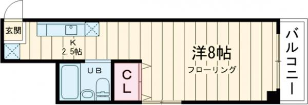 メゾン第二上井草・202号室の間取り