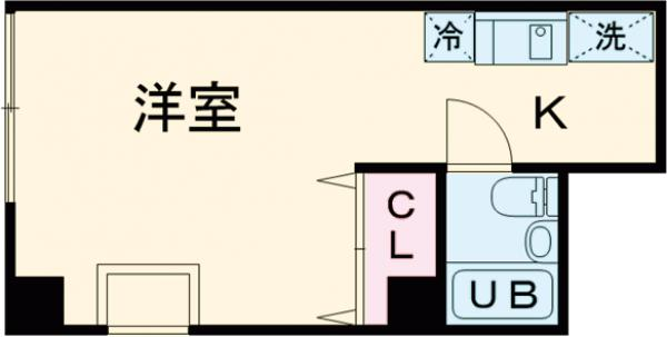 松島和田マンション・1D号室の間取り