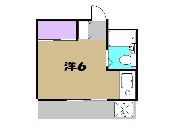 クリーンライトマンション・202号室の間取り