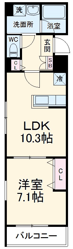 (仮称)有限会社双洋様アパート・201号室の間取り
