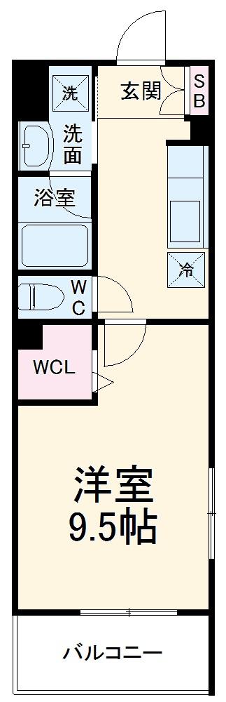 (仮称)有限会社双洋様アパート・204号室の間取り