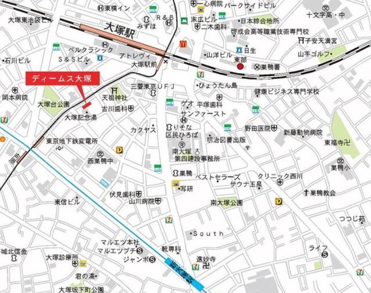 ディームス大塚 601号室の地図