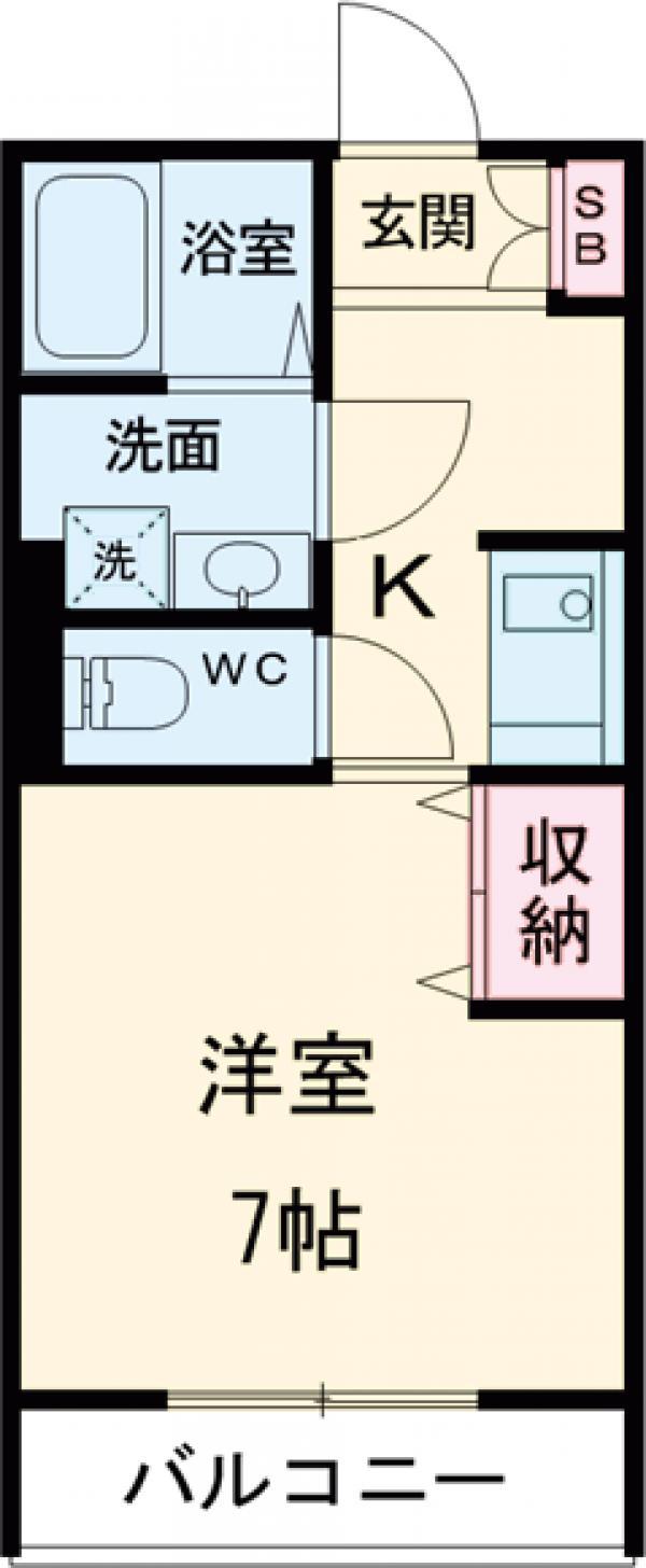Chichiri・102号室の間取り