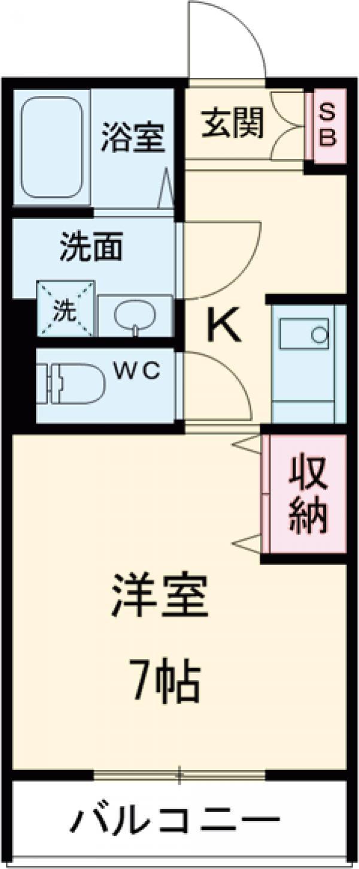 Chichiri・302号室の間取り