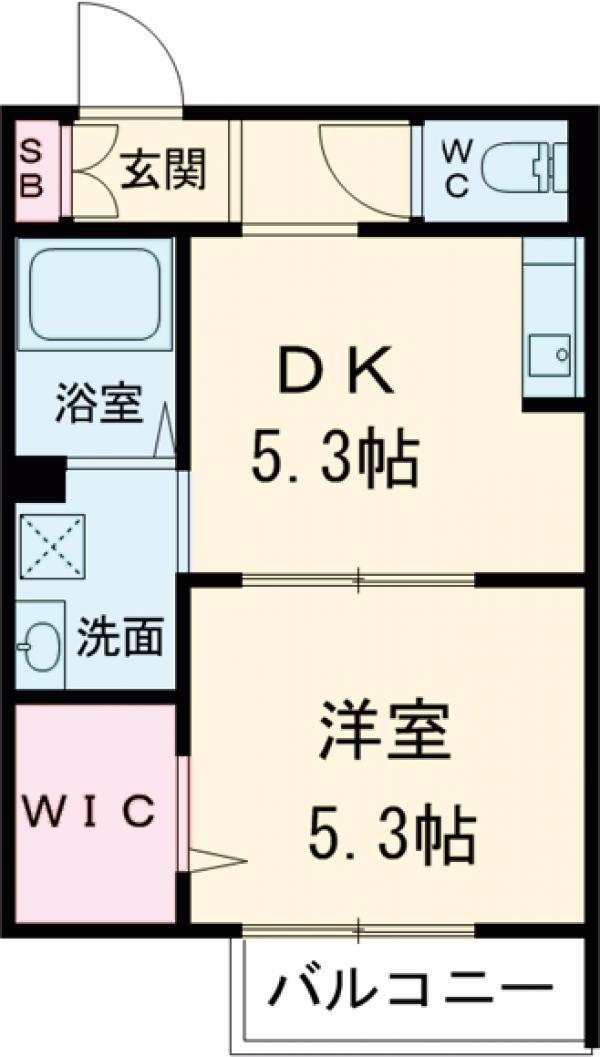 Chichiri・103号室の間取り